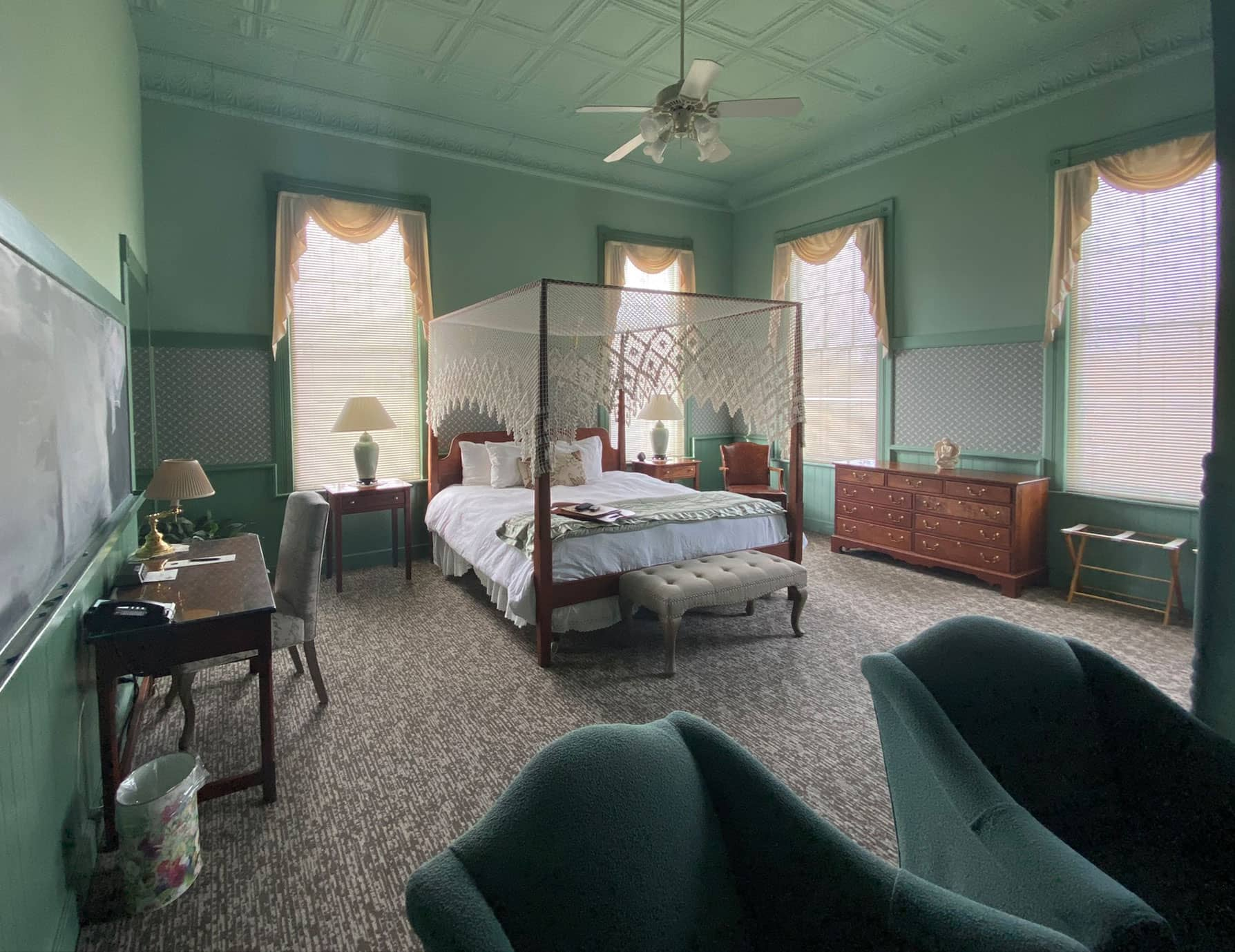 The La Normandie Room at sunset - Lenox Bed and Breakfast