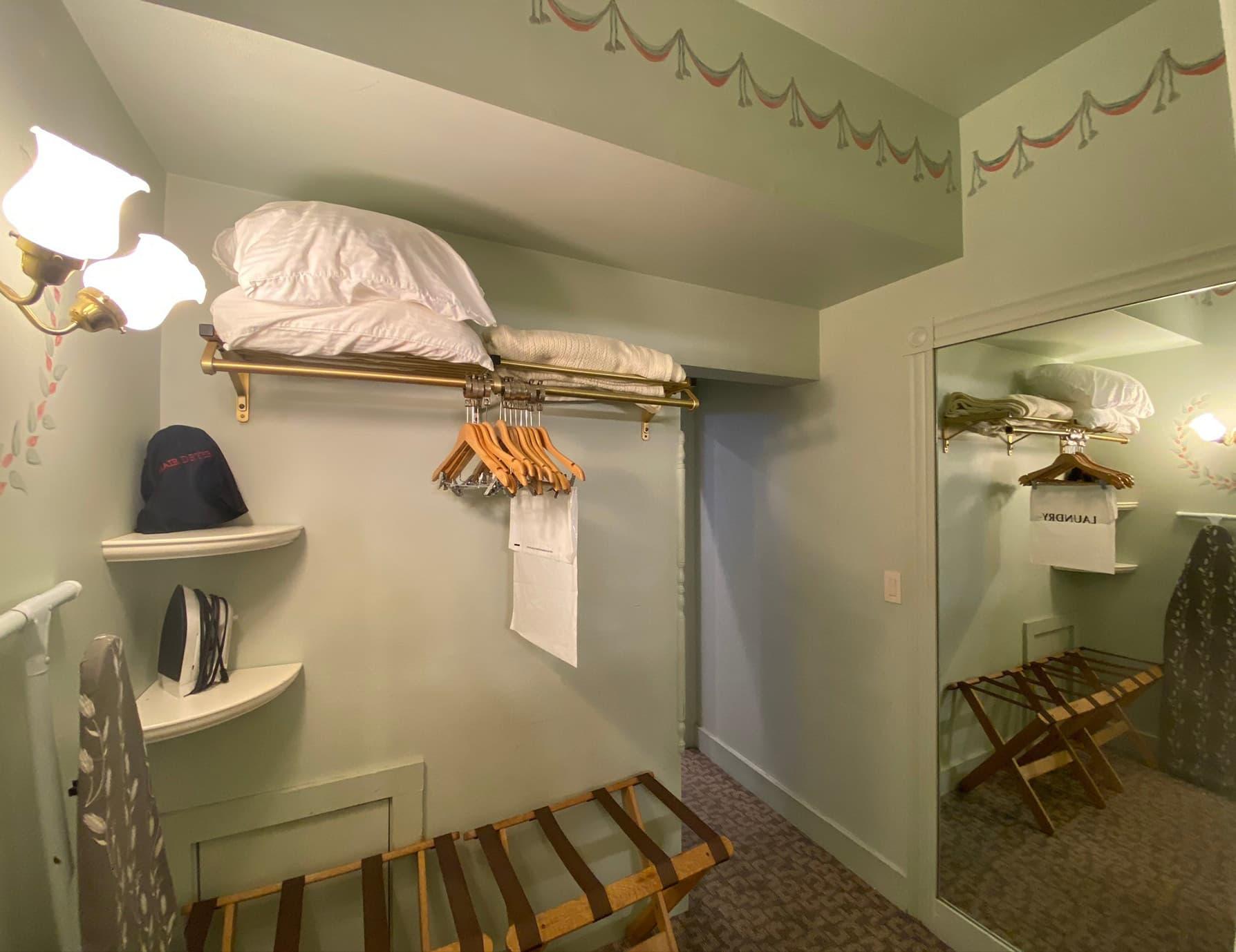 La Savoie Deluxe room closet- Berkshires Hotel