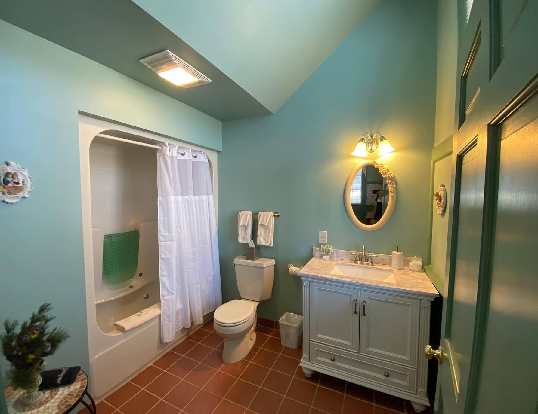 La Sedgwick room bathroom at our Lee, MA Hotel