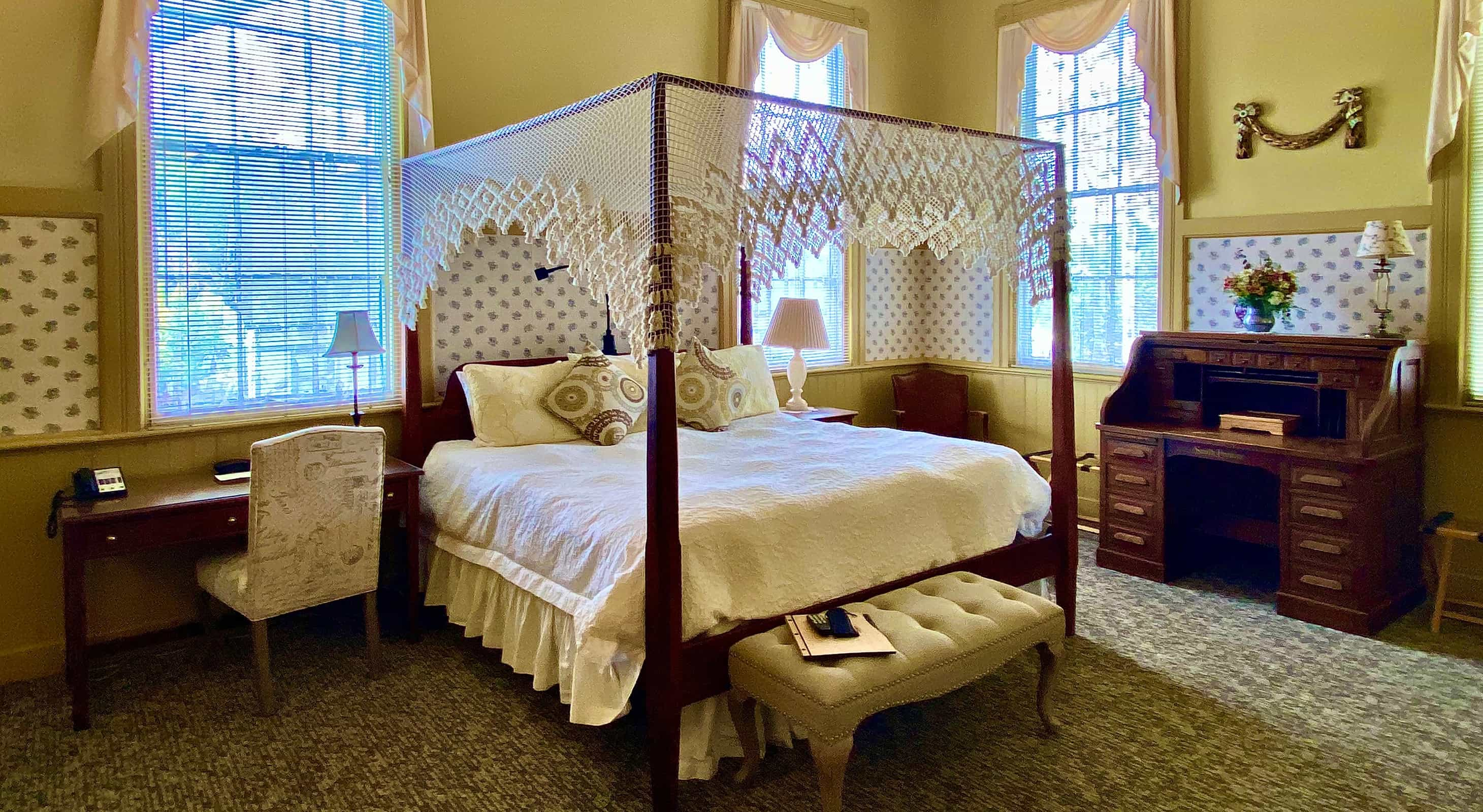 L'Aubusson room  Bed at a Berkshires B&B