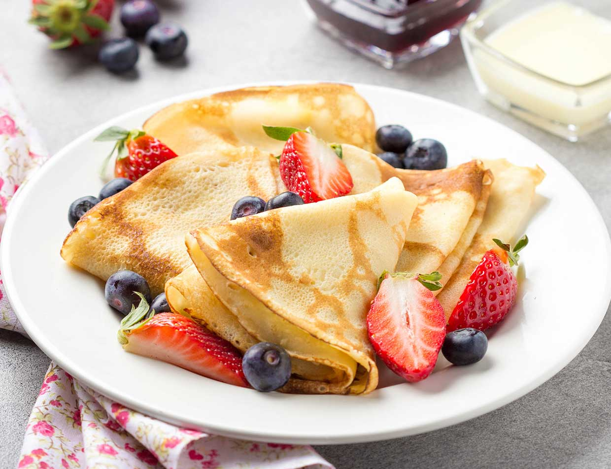 Breakfast Crepes at our Lenox Boutique Hotel