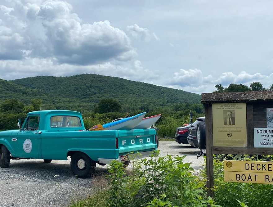 Kayaks Delivered at an inn in the Berkshires