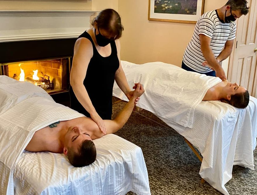 In-Room Couples Massage at a Lenox Inn