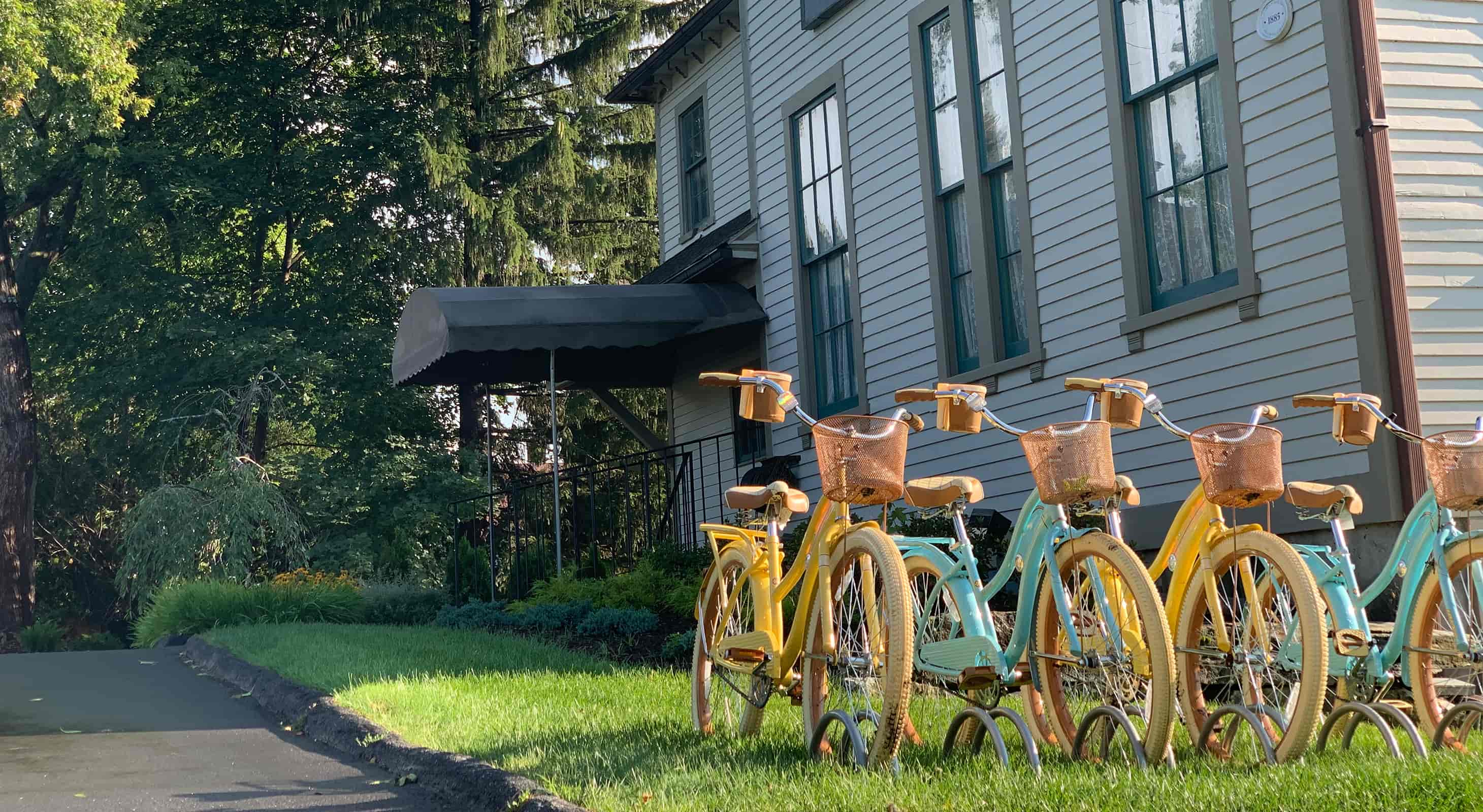 Bikes Outside a Berkshires Vacation Rental