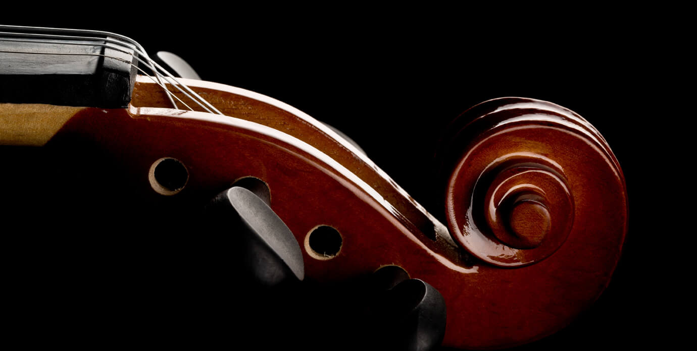 scroll on violin